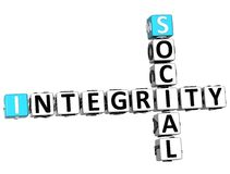 palavras cruzadas sociais da integridade 3D Fotografia de Stock Royalty Free