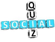 palavras cruzadas sociais do questionário 3D Fotos de Stock