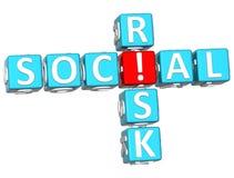 palavras cruzadas sociais do risco 3D Imagem de Stock