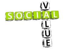 palavras cruzadas sociais do valor 3D Imagem de Stock Royalty Free