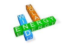 Palavras cruzadas verdes da energia Fotografia de Stock