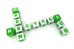 Palavras cruzadas verdes do conceito de Eco Foto de Stock