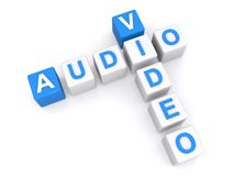 Palavras cruzadas video audio Imagens de Stock Royalty Free