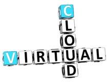palavras cruzadas virtuais da nuvem 3D Fotografia de Stock Royalty Free