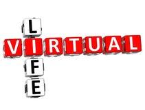 palavras cruzadas virtuais da vida 3D Foto de Stock Royalty Free