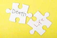 Palavras da morte e da vida Fotos de Stock