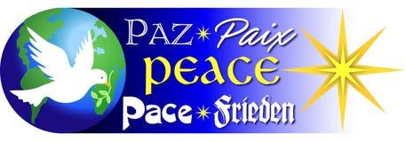 Palavras da paz/eps Imagens de Stock Royalty Free