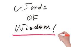 Palavras da sabedoria Fotografia de Stock