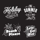 Palavras da tipografia e do feriado do ver?o ilustração royalty free