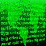 Palavras de computador Imagens de Stock Royalty Free