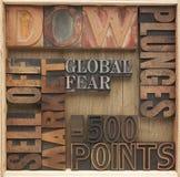 Palavras de queda do mercado de valores de acção Imagens de Stock Royalty Free