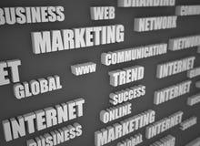 Palavras de zumbido relacionadas com o mercado da Web ilustração stock