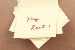 Palavras do aluguel do pagamento Fotos de Stock