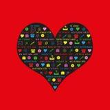 Palavras do amor Fotografia de Stock Royalty Free