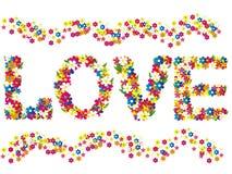 Palavras do amor Fotos de Stock