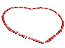 Palavras do amor Imagem de Stock