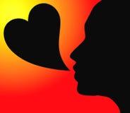 Palavras do amor Ilustração do Vetor