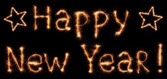 Palavras do ano novo feliz Imagem de Stock