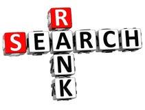 palavras do cubo das palavras cruzadas do grau da busca 3D Imagem de Stock