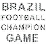 Palavras do estilo do futebol Imagens de Stock Royalty Free
