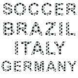 Palavras do estilo do futebol Imagens de Stock