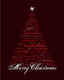 Palavras do feriado do Feliz Natal Foto de Stock