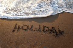 Palavras do feriado escritas Foto de Stock
