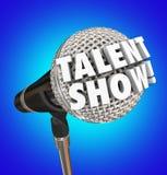 Palavras do microfone da mostra do talento que cantam o evento da competição ilustração do vetor