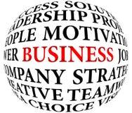 Palavras do negócio Imagens de Stock