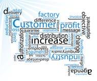 Palavras do negócio/vetor Fotos de Stock