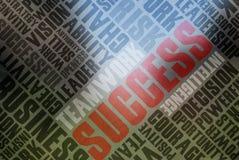 Palavras do sucesso Foto de Stock