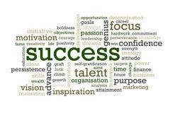 Palavras do sucesso Foto de Stock Royalty Free