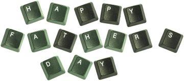 Palavras do teclado do dia de pais Fotos de Stock Royalty Free