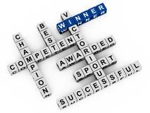 Palavras do vencedor Imagens de Stock Royalty Free