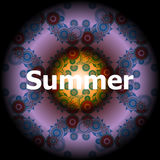 Palavras do verão em fundos abstratos Foto de Stock
