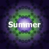 Palavras do verão em fundos abstratos Fotos de Stock