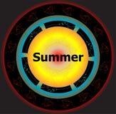 Palavras do verão em fundos abstratos Imagens de Stock Royalty Free