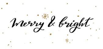 Palavras do vetor do Feliz Natal e do ano novo ilustração do vetor