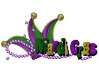 Palavras e chapéu do carnaval Fotografia de Stock