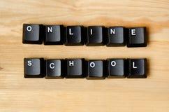 Palavras em linha da escola Fotos de Stock