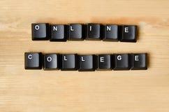 Palavras em linha da faculdade Imagem de Stock Royalty Free