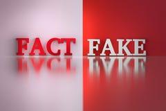 Palavras - fato e falsificação ilustração royalty free