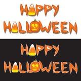 Palavras felizes de Halloween Imagem de Stock Royalty Free