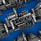 Palavras financeiras 3D Foto de Stock Royalty Free