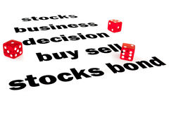 Palavras financeiras com dados Fotos de Stock Royalty Free