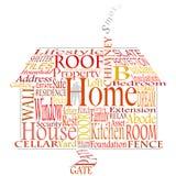 Palavras Home Imagens de Stock