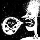 Palavras más dos gritos do homem ilustração do vetor