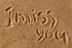 Palavras na areia Foto de Stock Royalty Free