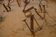Palavras oxidadas Fotografia de Stock