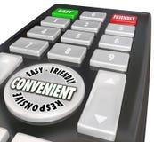 Palavras responsivas fáceis fáceis de usar de controle remoto da conveniência ilustração royalty free
